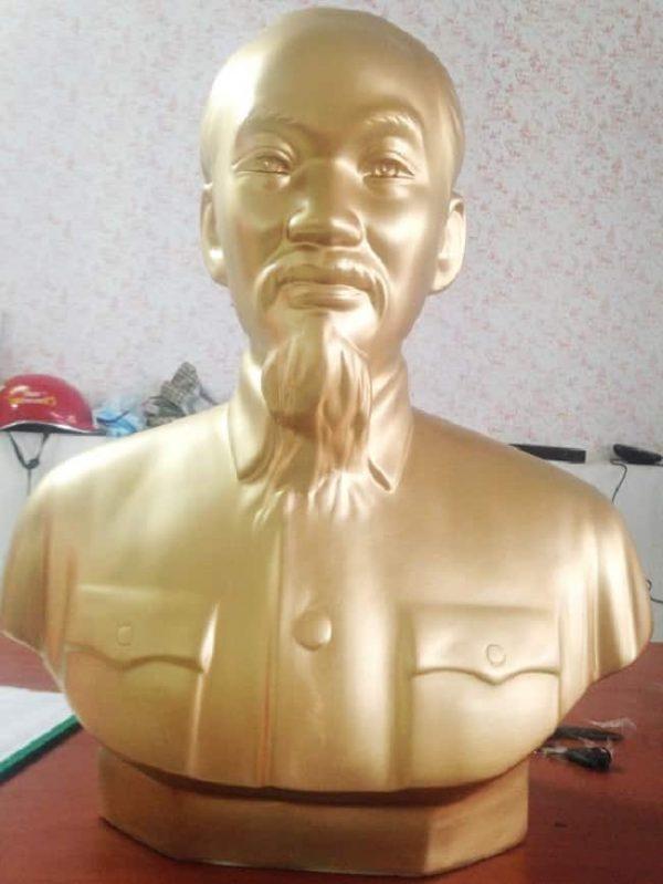 Bán tượng Bác Hồ mạ vàng Hồ Chí Minh