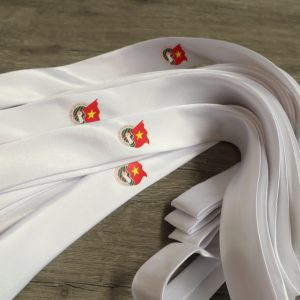 Bán cà vạt đoàn màu trắng siêu đẹp, rẻ