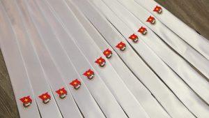 Mẫu cà vạt trắng đạt kích thước chuẩn
