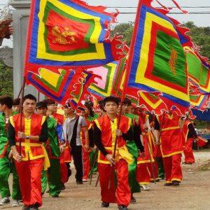 Cờ lễ hội có màu sắc cực cuốn hút